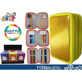 CASE GIOTTO 3ZIP GLITTER 48/12