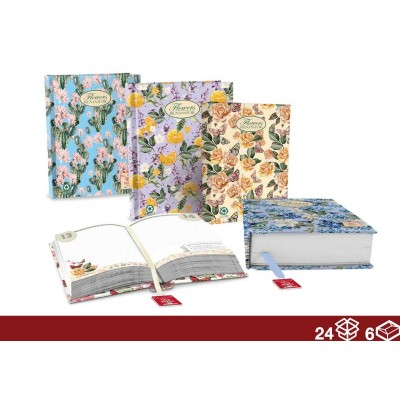 DIARY PCK 16M NATURE FLOWERS 24/6