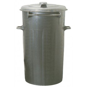 BLACK BIN WITH LID LT. 80