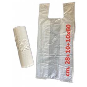 SHOPPER BAGS IN ROLL cm. 28 + 10 + 10x60 1kg.