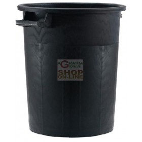 BLACK STACKABLE BIN WITHOUT LID LT. 50 ICS