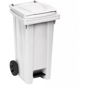 SQUARE URBAN NETTEZZA BIN WITH WHEELS AND PEDAL LT. 120 WHITE