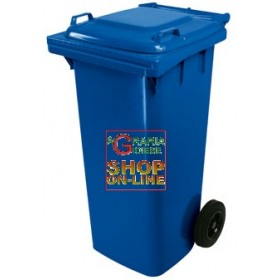 SQUARE URBAN NETWORK BIN WITH WHEELS LT. 120 BLUE