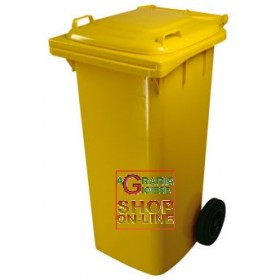 SQUARE URBAN NETWORK BIN WITH WHEELS LT. 120 YELLOW