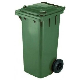 SQUARE URBAN NETWORK BIN WITH WHEELS LT. 120 GREEN