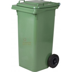 SQUARE URBAN NETWORK BIN WITH WHEELS LT. 240 GREEN
