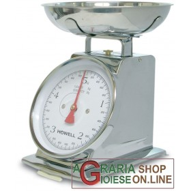CHROME OLD STYLE MECHANICAL KITCHEN SCALE KG. 5