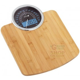 Electronic personal scale eva DIG DASHBOARD in bamboo kg.