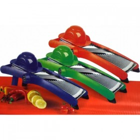 VEGETABLE AND FRUIT SLICER IN STAINLESS STEEL, ADJUSTABLE CUT