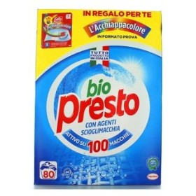 BIO PRESTO DRUM LAUNDRY DETERGENT POWDER WASHING MACHINE 80 WASHES