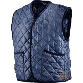 HUSKY VEST IN NYLON PVC QUILTED BLUE COLOR TG ML XL XXL