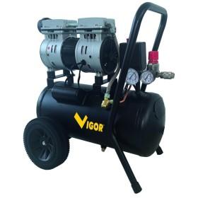 VIGOR COMPRESSORE SILENT 230V VCA-S24 2CIL/DIR 1HP LT. 24
