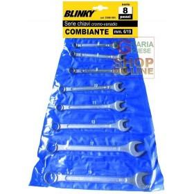 BLINKY SERIE CHIAVI FISSE PZ. 8 CROMOVANADIO MM. 6/22
