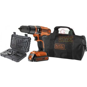 BLACK AND DECKER PERCUSSION DRILL 18VP LITHIUM BATTERY MOD.