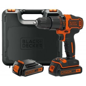BLACK AND DECKER DRILL WITH 2 18VP LITHIUM BATTERIES MOD. BDCHD18KB
