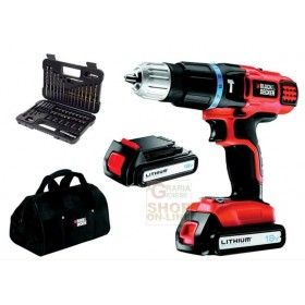 BLACK AND DECKER DRILL WITH 2 LITHIUM BATTERIES 18 V MOD. EGBL188BSA