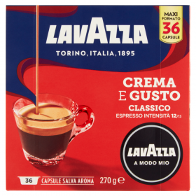 Lavazza A Modo Mio,Caffè Espresso, Crema E Gusto Classico- 36