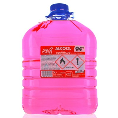ALCOOL DENATURATO 5000 CC.SAI 94 GRADI