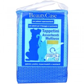 BEAUTYCASE MULTIPURPOSE LUXURY ABSORBENT MATS FOR ANIMALS 60x60 10 PIECES WITH ADHESIVES FOR FIXING TO THE FLOOR