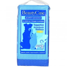 BEAUTYCASE MULTIPURPOSE LUXURY ABSORBENT MATS FOR ANIMALS 60x90 10 PCS. WITH ADHESIVES FOR FIXING TO THE FLOOR