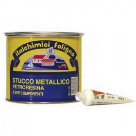ITALCHIMICI STUCCO METALLICO VETRORESINA CON CATALIZZATORE ML. 500