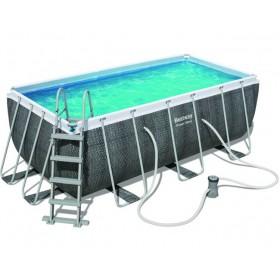 Bestway 56722 piscina con telaio Power Steel Rattan cm.