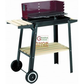 BLINKY BARBECUEE A LEGNA WOODY-48 CON RUOTE CM. 48X29