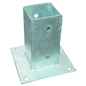 BLINKY BASE FOR POLES IN GALVANIZED STEEL CM.7X7X15H