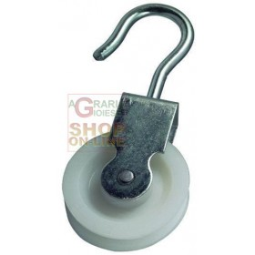 BLINKY GALVANIZED STEEL PULLEY NYLON SWIVEL DIAMETER MM. 30