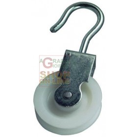 BLINKY GALVANIZED STEEL PULLEY NYLON SWIVEL DIAMETER MM. 40