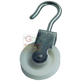 BLINKY GALVANIZED STEEL PULLEY NYLON SWIVEL DIAMETER MM. 60