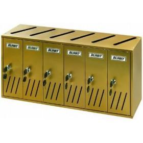 BLINKY POST BOXES ALU BRONZE K-6 SR. 6 62X17,5X30 27358-06 / 1