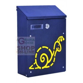 BLINKY BOX FOR SNAIL LETTERS IN BLACK STEEL CM. 21X8,5X30H