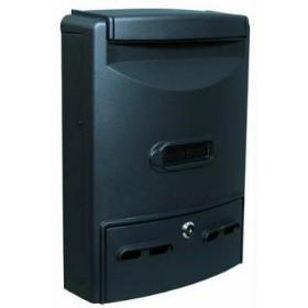 BLINKY MAILBOX IN ALUMINUM EURO-MAXI 29X10X39H BLACK