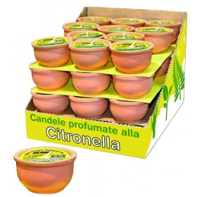 BLINKY CERO CITRONELLA VASO IN TERRACOTTA CM. 9x4,5h.