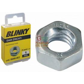 BLINKY DADI IN ACCIAIO ZINCATO BLISTER MM. 4