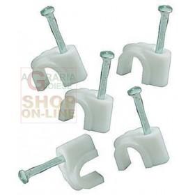 BLINKY WHITE PLASTIC CABLE FIXER PCS. 100 DIAMETER MM. 6