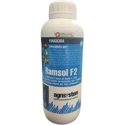 AGRISYSTEM RAMSOL F2 FUNGICIDA A BASE RAME E ZOLFO CUTHIOL LT.