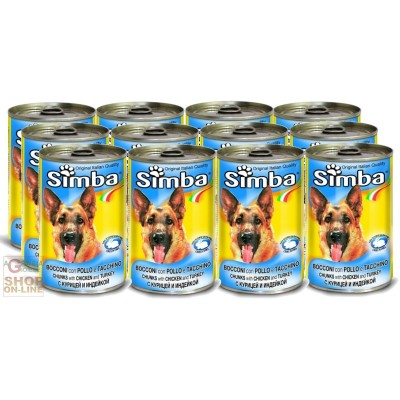 12 BOXES SIMBA DOG KG. 1,230 CHICKEN AND TURKEY