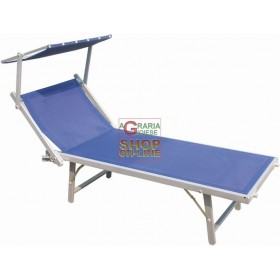 BLINKY ADJUSTABLE ALUMINUM SUN BED 183X72X90