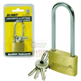 BLINKY BRASS PADLOCK 3617 ARCH LONG MM. 30