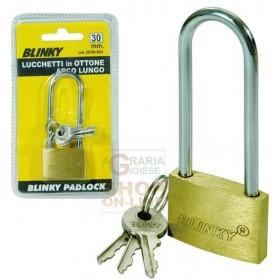 BLINKY BRASS PADLOCK 3617 ARCH LONG MM. 40