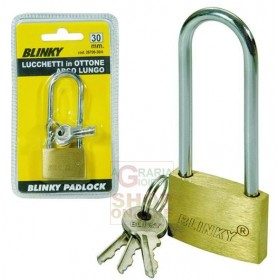 BLINKY BRASS PADLOCK 3617 ARCH LONG MM. 50