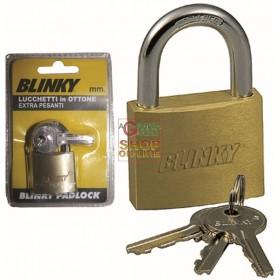 BLINKY PADLOCK IN EXTRA-HEAVY BRASS MM. 40