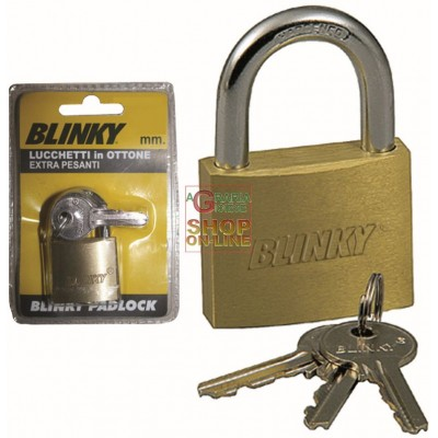 BLINKY BRASS PADLOCK MM. 25