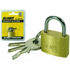 BLINKY BRASS PADLOCK MM. 20
