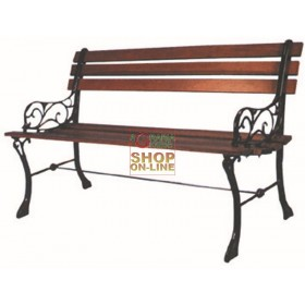 BLINKY BENCH CAST IRON WOOD PB8 WITH BLACK BACKREST 96940-10 / 5