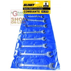 BLINKY SERIES OF COMBINED WRENCHES PCS. 8 CHROMOVANADIO MM. 6/19