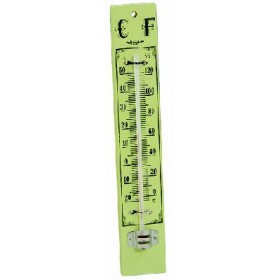 BLINKY WOODEN BASE WALL THERMOMETER CM.22X4.3