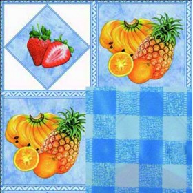 BLINKY DOUBLE-FACE FRUIT-TROPIC TABLECLOTH MT. 1.4X30
